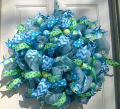 Easter Wreath by LisasLaurels on Etsy