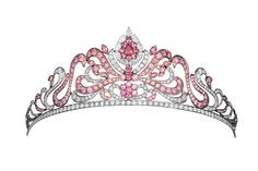 Linneys Argyle pink diamond tiara encrusted with 178 Argyle pink diamonds, available at www.linneys.com.au.
