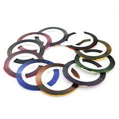 1 pz rotoli linea nastro adesivo per unghie decorazione strisce (11 colori a scelta) – EUR € 0.49
