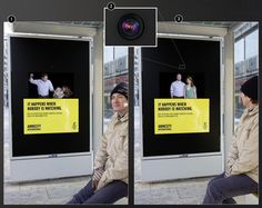 """Bus shelter ad - """"It Happens When Nobody is Watching"""" (Domestic Abuse)"""