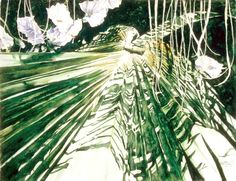 "palmetto 5 / martha;s  / paget   /  bermuda   22"" x 30"" micheal zarowsky / watercolour on arches paper / (private collection)"
