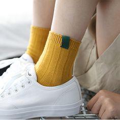 1 пара модные новый красочный дизайн Art женские носки теплые высокое качество осенне-зимние Носки Женские однотонные женские носки