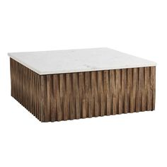 marble + wood coffee table  $999 heavy and light
