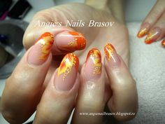 Angie's Nails: Unghii tehnice portelan,pictura one stroke, 2012