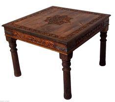 100x100 Cm Antik Look Orient Massiv Holz Esstisch Tisch Küchentisch  Schreibtisch | EBay