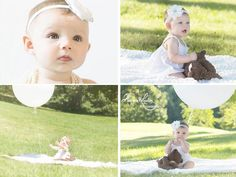 6 month photo session baby girl outdoors 6 Month Pictures, 6 Month Baby Picture Ideas, Spring Pictures, Baby Pictures, Maternity Portraits, Maternity Photographer, Baby Girl Photos, Newborn Photos, Sibling Photography