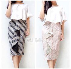 Skirt Kebaya Dress, Batik Kebaya, Blouse Dress, Batik Fashion, Hijab Fashion, Fashion Dresses, Blouse Batik, Batik Dress, Rok Batik Modern