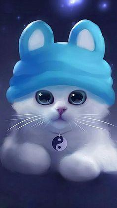 Cute Galaxy Wallpaper, Cute Cat Wallpaper, Cute Pokemon Wallpaper, Baby Animal Drawings, Cute Animal Drawings Kawaii, Cute Drawings, Cute Wild Animals, Cute Cartoon Animals, Cute Love Wallpapers