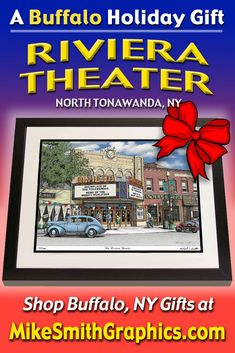 Highly detailed drawing featuring the Riviera Theater in North Tonawanda, NY by Western NY artist Michael Smith. Shop for unique artwork in a variety of subjects at MikeSmithGraphics.com. North Tonawanda, Italian Renaissance, Limited Edition Prints, Wall Art Prints, Buffalo, Theater, Ink, Drawings, Unique
