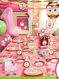 Pink Birthday Express Owl Birthday Party Ideas and Pictures