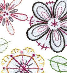 Sublime Stitching's floral embroidery