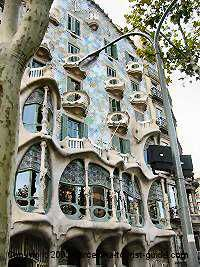 Casa Batlló, Barcelona. This house is so colorful and beautiful. I could have spent all day on the roof.