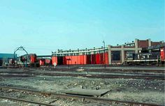 GTW's roundhouse (above) at Pontiac Yard, taken in April, 1977.  [Charlie Whipp].