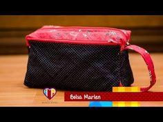 Bolsa necessaire em tecidos Marlen - Maria Adna Ateliê - Aulas de bolsas e necessaires em tecidos - YouTube