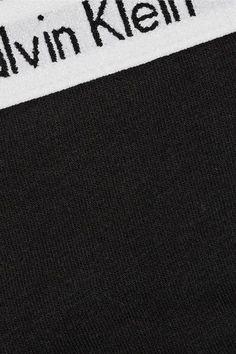 Calvin Klein Underwear - Set Of Three Carousel Stretch-cotton Jersey Thongs - Black - large