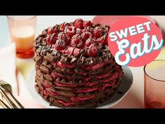 (5) How to Make a Chocolate-Raspberry Waffle Cake | Food Network - YouTube