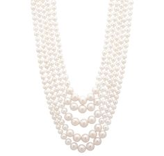 $314.99 Pearl Lustre Sterling Silver Freshwater Pearl Nested Necklace at theshoppingchannel.com
