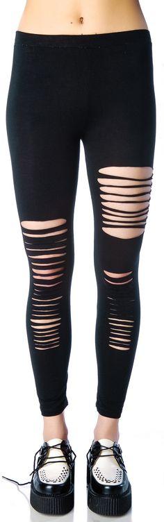 605da8c6c76a0 Ripped Cotton Leggings