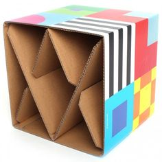 Could make DIY cardboard chair kits customers could take home to build or customise themselves.: