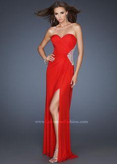 2014 La Femme 18771 Beaded Red Floor-Length Dress - $167.00 : Buy Designer 2014 Dresses For Prom,Homecoming Dresses Online