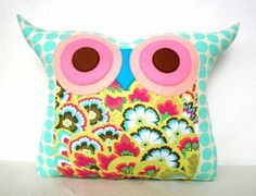 Owl Fabric Pillow, Desertrat1