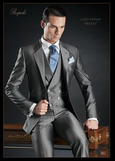 Traje de novio gris modelo 883 ONGala Gentleman wedding suits