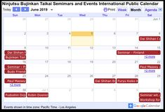 Thanks to everyone who submitted Bujinkan Taikai and Seminars to the Global Calender. Check out all the events in June! Visit the calendar to see dozens of taikai and seminars around the world in 2019. Let us know about more events to list. Domo.  Train
