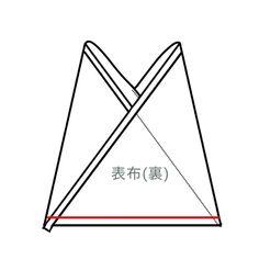 【型紙・作り方】あずま袋の三角バッグ - ハンドメイド洋裁ブログ yanのてづくり手帖-簡単大人服・子供服・小物の無料型紙と作り方- Origami Tote Bag, Handmade Bags, Handmade Items, Triangle Bag, Blog Couture, Handmade Notebook, Pattern Paper, Dressmaking, Free Pattern