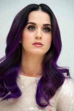 purple perry. (Katy Perry)