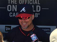 Chipper is in the house! Chipper Jones, Braves Baseball, Favorite Pastime, Opening Day, Atlanta Braves, Mens Sunglasses, Cap, Chop Chop, Instagram Posts