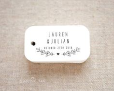 Sugared Almonds Personalized Gift Tags  Jordan by SmilingTag