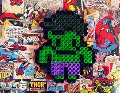 Hulk de Hama Beads #comics #marvel #hulk #laboresenlaluna #hamabeads #perler