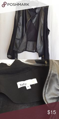 faux leather vest 1x never worn in pristine condition. Jackets & Coats Vests