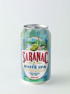 Saranac White IPA by John Stewart, via Behance