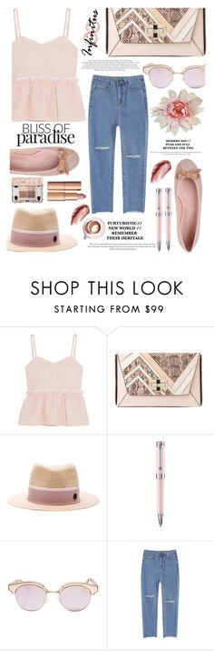 """""""07.09.2016"""" by liorosa ❤ liked on Polyvore featuring Steve J & Yoni P, Diane Von Furstenberg, Maison Michel, Urban Decay, Montegrappa, Le Specs, Pretty Ballerinas and Martha Stewart"""