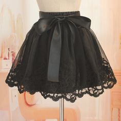 High Quality Organza Skirt With Embroidery, Stylish Skirts, Black Skirts, Women Skirts on Luulla