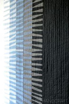 Cruella Deville Quilt by Modern Handcraft // The Denim Studio - AGF #modern #solid #quilts