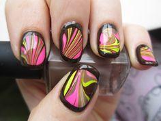 Mod nails  via Glitterblood via Marta Ben-David