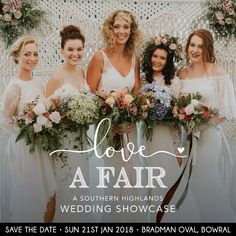 Everything that we LOVE about getting married in the beautiful Southern Highlands will be on display at the awesome Love a Fair wedding showcase. So much amazing local talent all in one place... you have to make the trip down to Bowral to meet all of these lovely wedding professionals and see their gorgeous work! #southernhighlandsweddingexpo #bowralweddingexpo