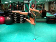 How to do the Flag - Pole Dance | I have a gorgeous underarm bruise from this one.