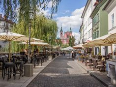 Ljubljana Photo Essay: The Prettiest Capital in Europe Riverside Cafe, Slovenia Ljubljana, Lake Bled, Outdoor Restaurant, Central Europe, Uk Europe, Trieste, Photo Essay, Eastern Europe