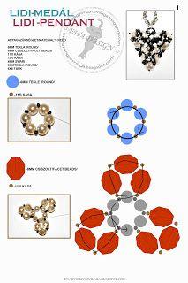 Ewa gyöngyös világa!: Lidi medál minta/ Lidi pendant pattern1