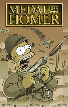 The Simpsons / Medal of Homer! The Simpsons Game, Simpsons Art, Simpson Wallpaper Iphone, Cartoon Wallpaper, Los Simsons, Simpsons Drawings, Nerd, Cartoon Crossovers, Futurama