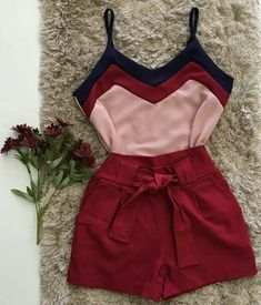 Lindo look casual Summer Outfits, Cute Outfits, Fashion Looks, Teenager Outfits, Pulls, Fashion Outfits, Womens Fashion, My Wardrobe, Casual Looks