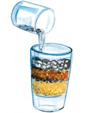 Experimente mit Wasser: Mini-Kläranlage