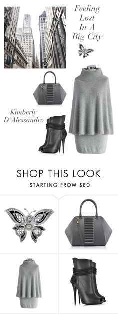 """""""The Big City"""" by kimberlydalessandro ❤ liked on Polyvore featuring Kristina George, Chicwish and Giuseppe Zanotti"""