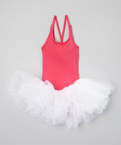 Look at this Wenchoice Hot Pink & White Tutu Ballet Dress - Infant, Toddler & Girls on today! Toddler Dance, Infant Toddler, Toddler Girls, White Tutu, Pink White, Hot Pink, Girls Ballet Dress, Dance Gear, Niece And Nephew