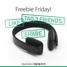 From this week on we are going to give away some free accessories. We start with a pair of Bluetooth headphones. Follow OPPO on Pinterest and Pin this image to any of your boards. That's it. A winner will be randomly selected next week. Good luck guys!