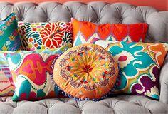 Superb ⋴⍕ Boho Decor Bliss ⍕⋼ bright gypsy color & hippie bohemian mixed pattern home decorating ideas – Vibrant Pillows. The post ⋴⍕ Boho Decor Bliss ⍕⋼ bright gypsy color & hip . Décor Boho, Bohemian Decor, Hippie Bohemian, Bohemian Pillows, Hippie Chic, Boho Style, Boho Dekor, Boho Home, Pattern Mixing