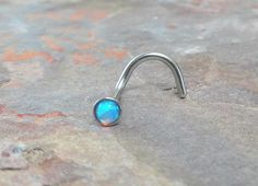 Fire Opal Nose Ring Stud by MidnightsMojo on Etsy, $10.00